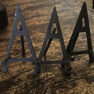 Other - NWOT 3 Black Wrought Iron Picture/Plate Holders